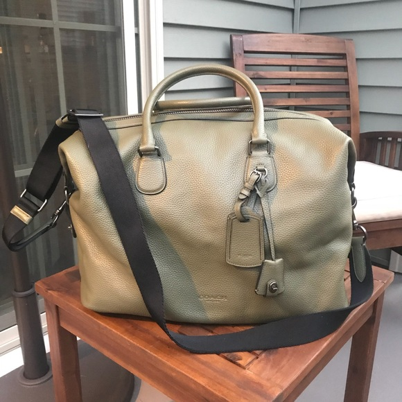 8fdc64b2b9 Coach Handbags - Coach Explorer Bag in Green Pebble Leather